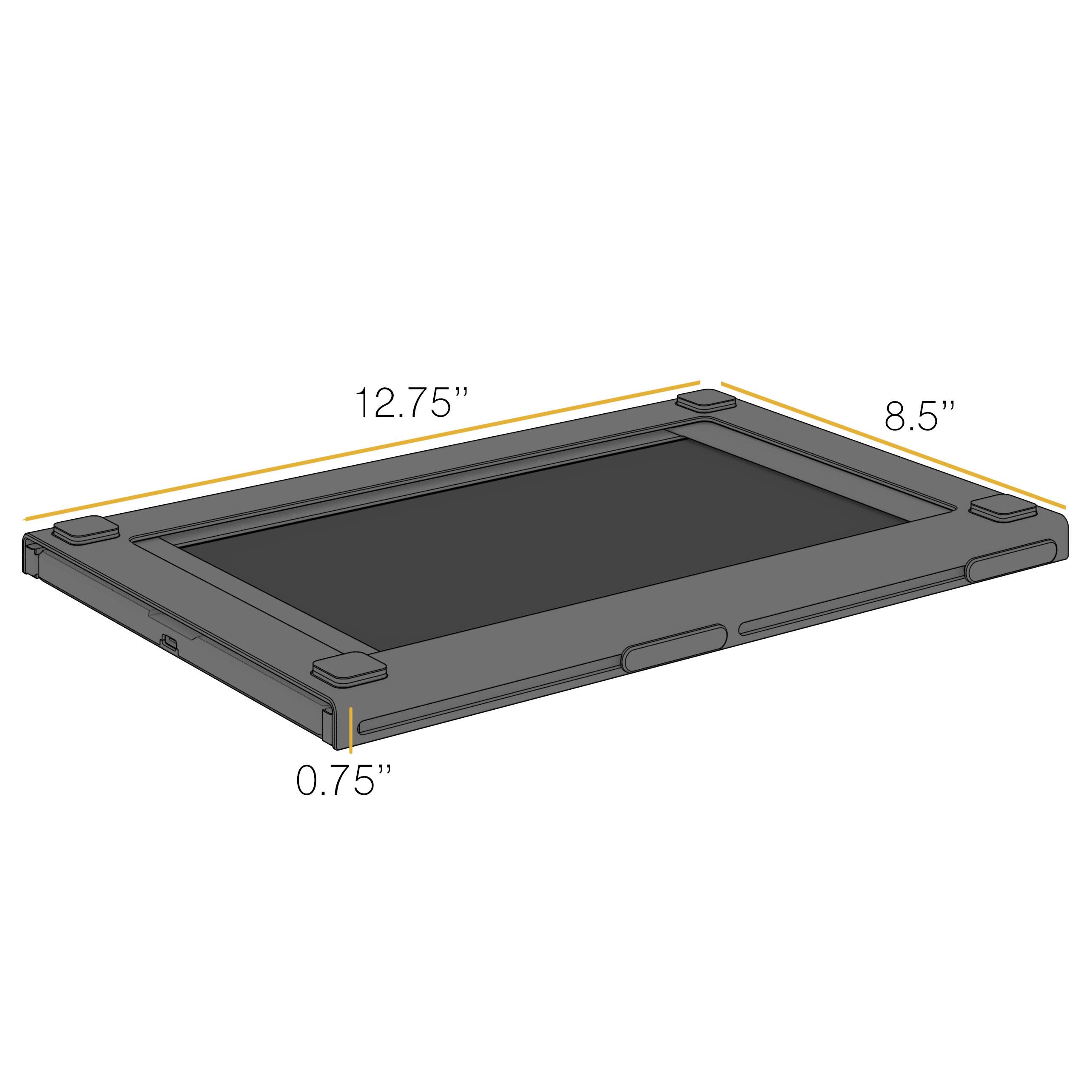 Slim, lightweight SideTrak portable laptop design