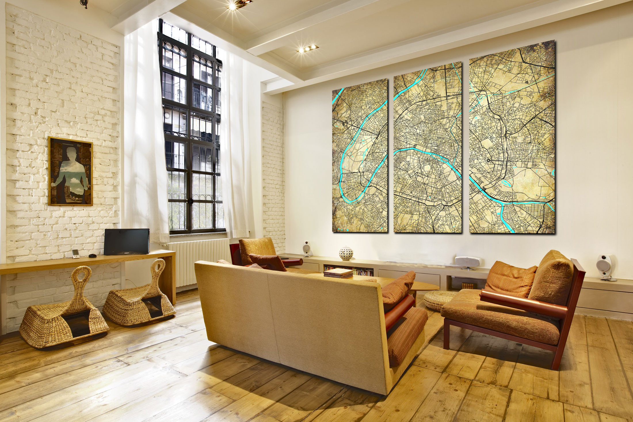 Custom city wall maps for sale with safe fast worldwide ...