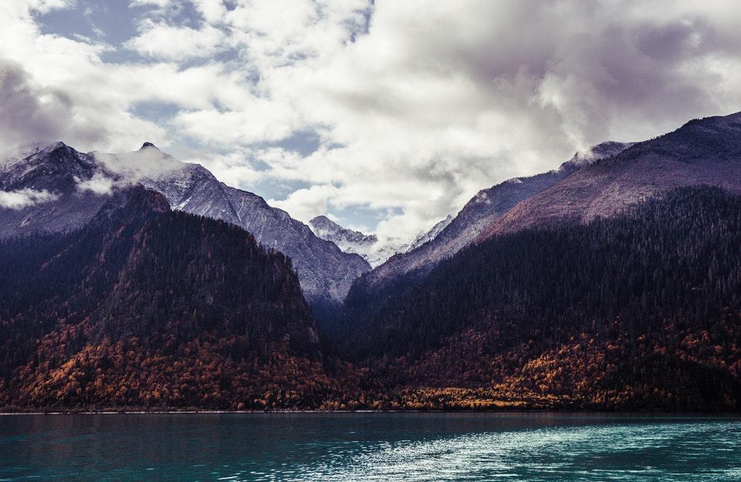 Paysage de montagne au Tibet