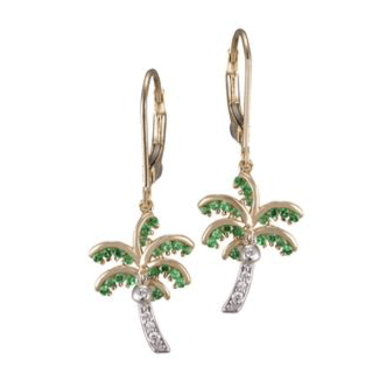Denny Wong Two Tone Single Palm Tree Earrings