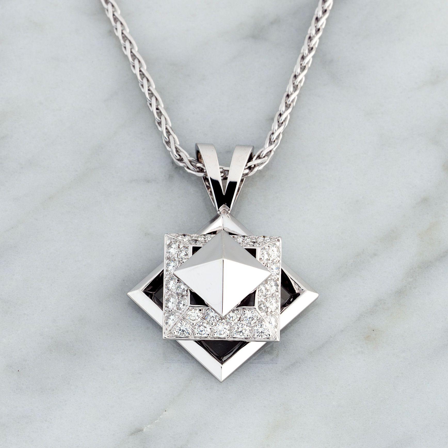 14k White Gold 0.40ct Diamond Spinner Pendant