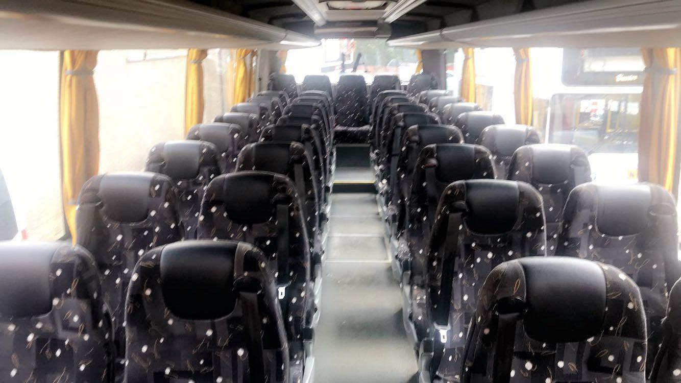 Interior of 57 Seat Coach
