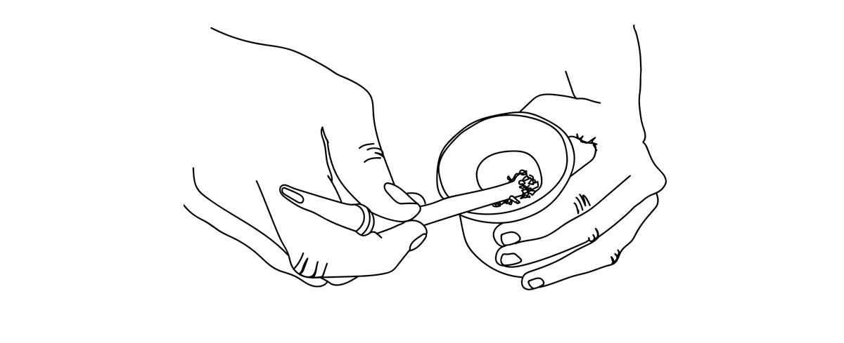 Préparer le maté: Placer la bombilla