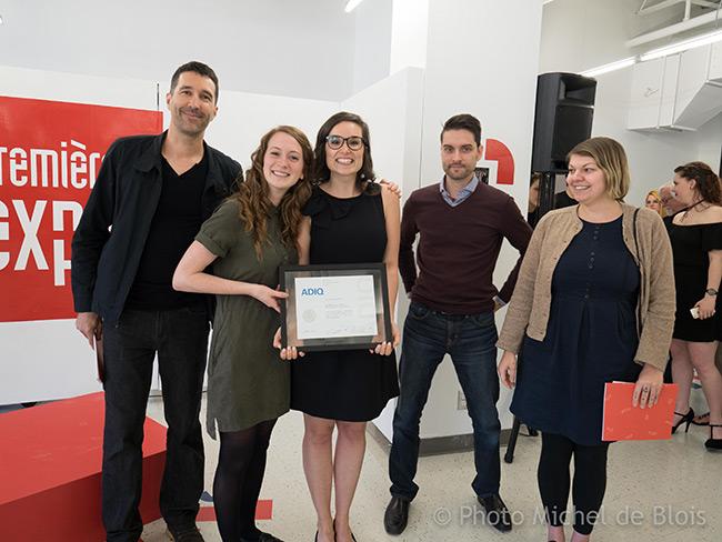Valérie et Elizabeth remportent le Prix du public, le prix de l'ADIQ et le Prix du Musée de la Civilisation