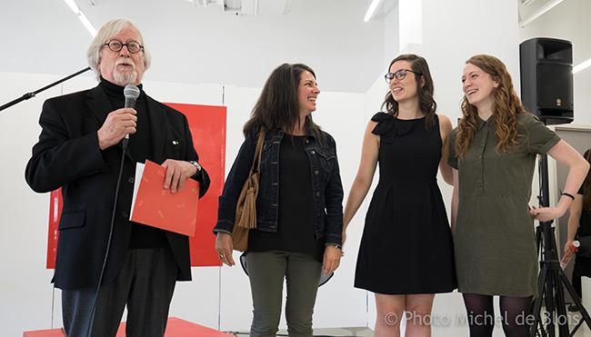 Michel Dallaire, Elizabeth Coulombe et Valérie Laliberté
