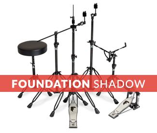 Beginner drum stands, black drum stands
