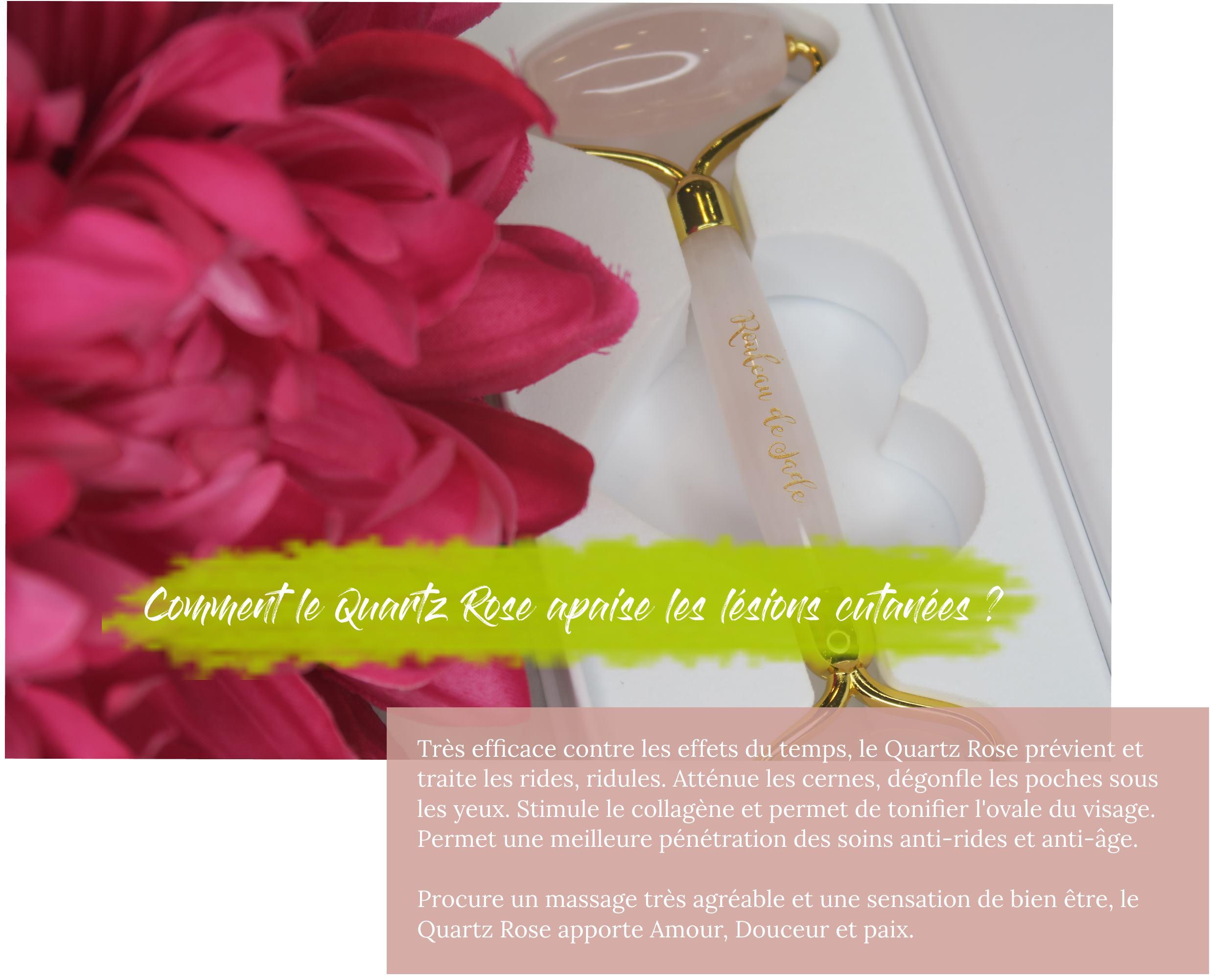 Comment le Quartz Rose apaise les lésions cutanées ?