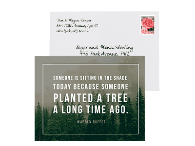 Tree Quote Card