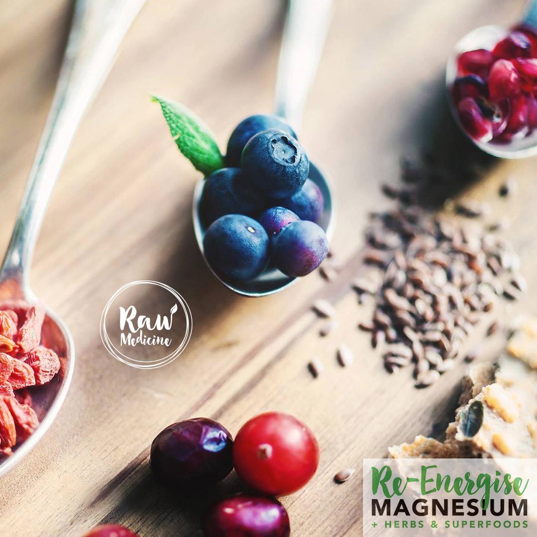 Raw medicine Re-Energise magnesium