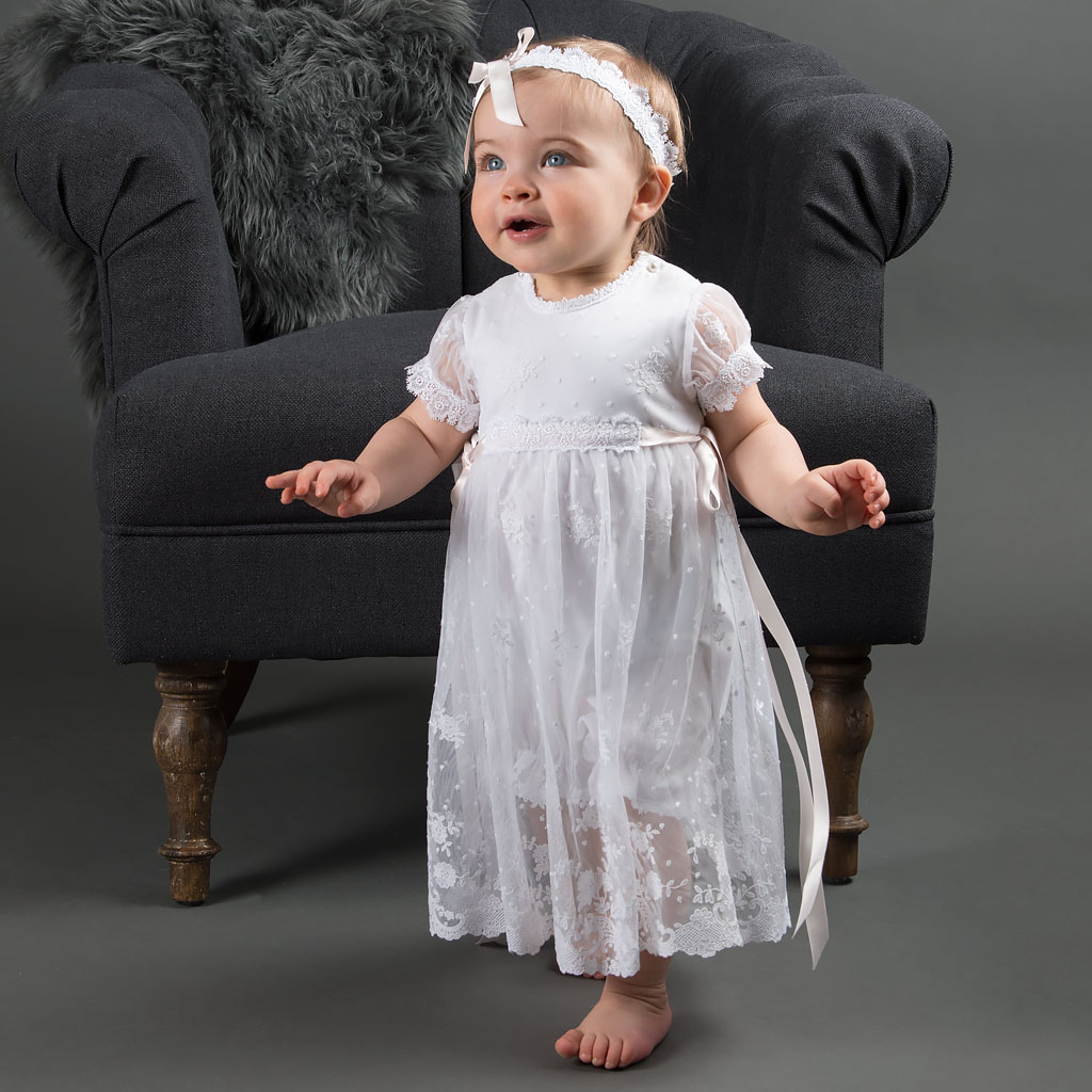 Melissa Girls Christening Romper Dress