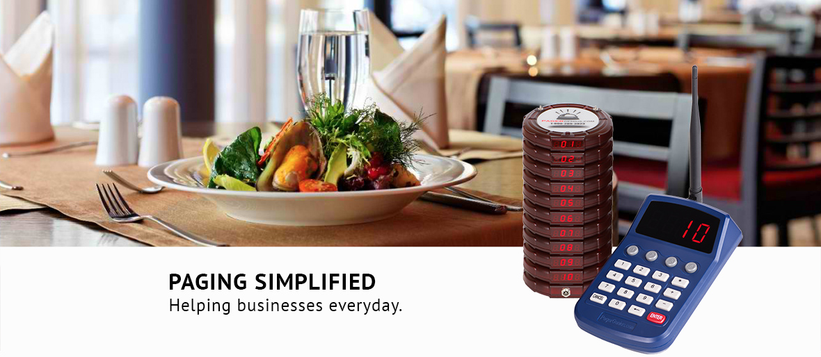 Restaurant Server and Customer Pager Systems