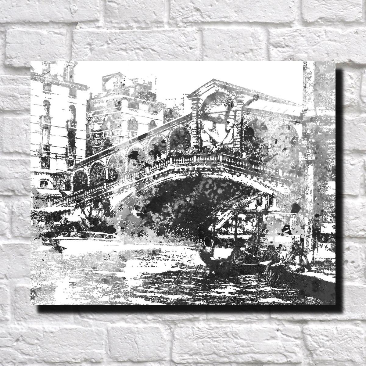 abstract landmark prints