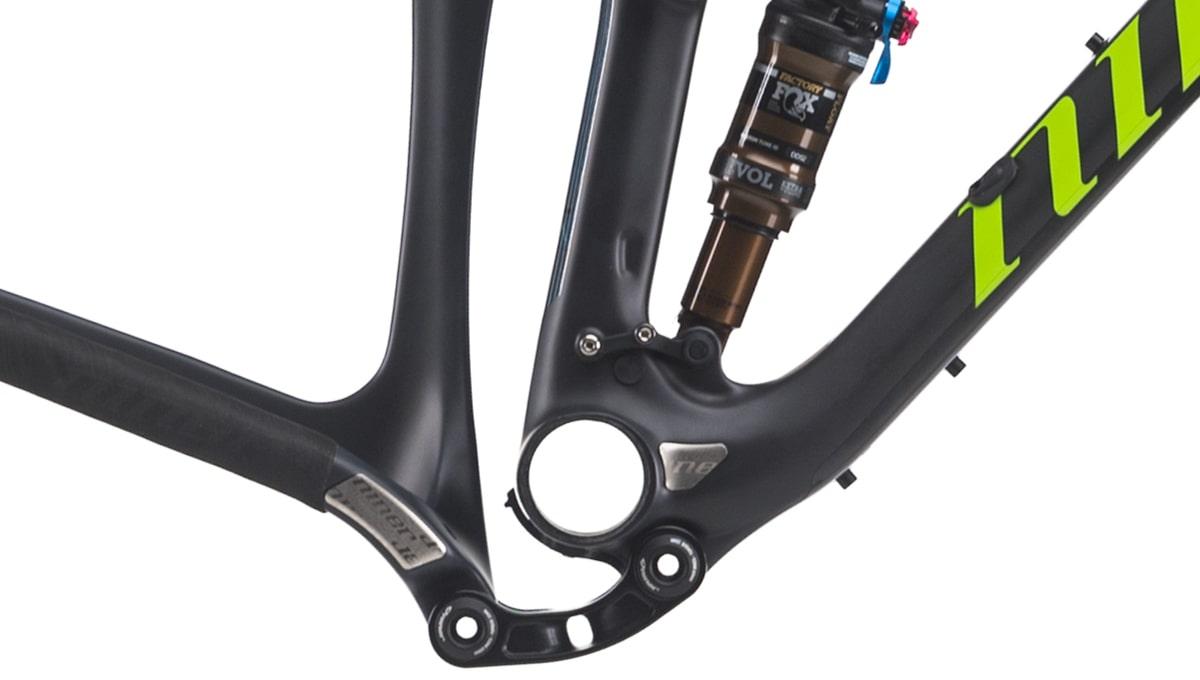 Close up of the Niner RKT 9 RDO Bike Frame