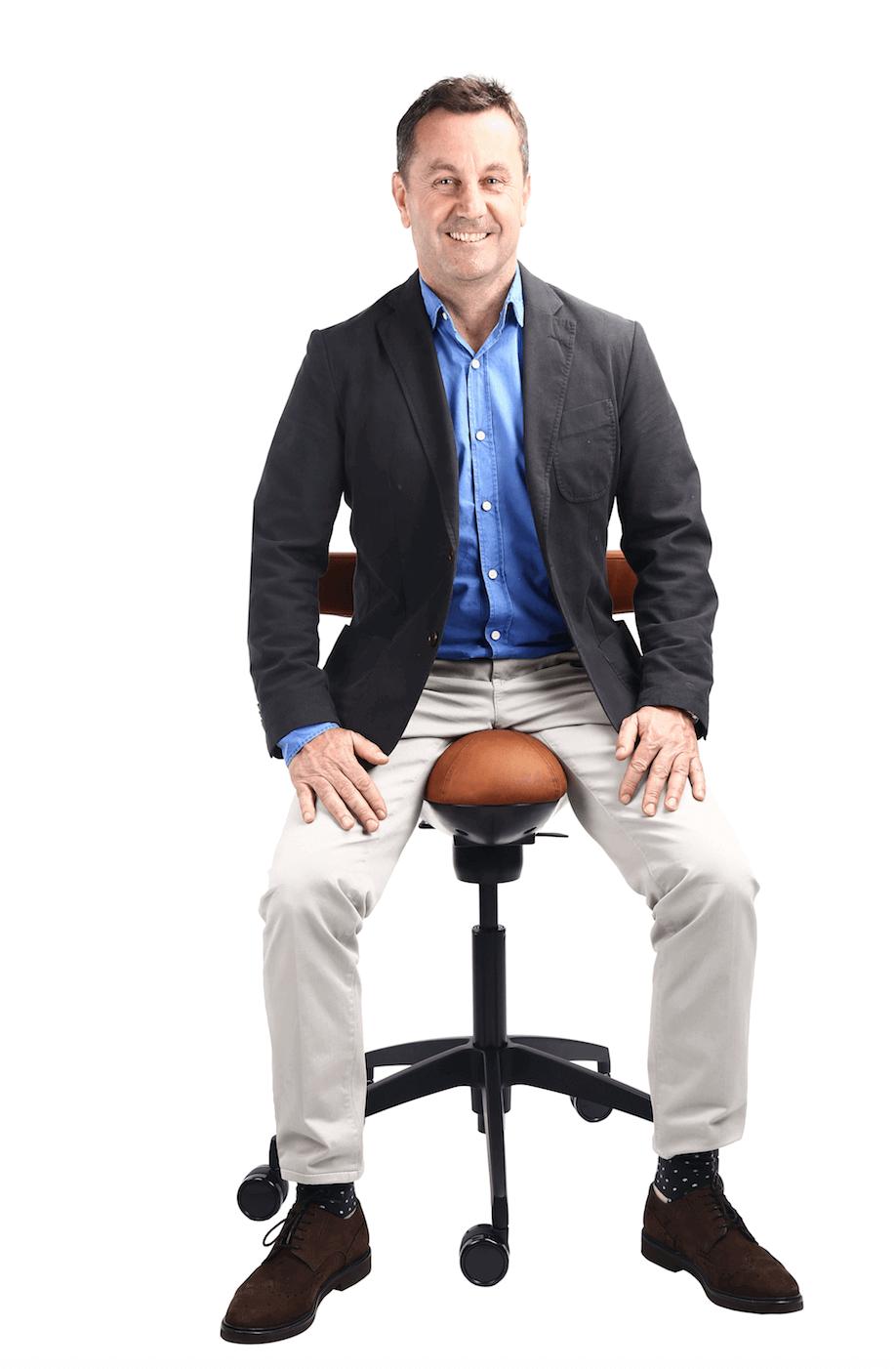 David France Chiropractor Displaying Correct Posture