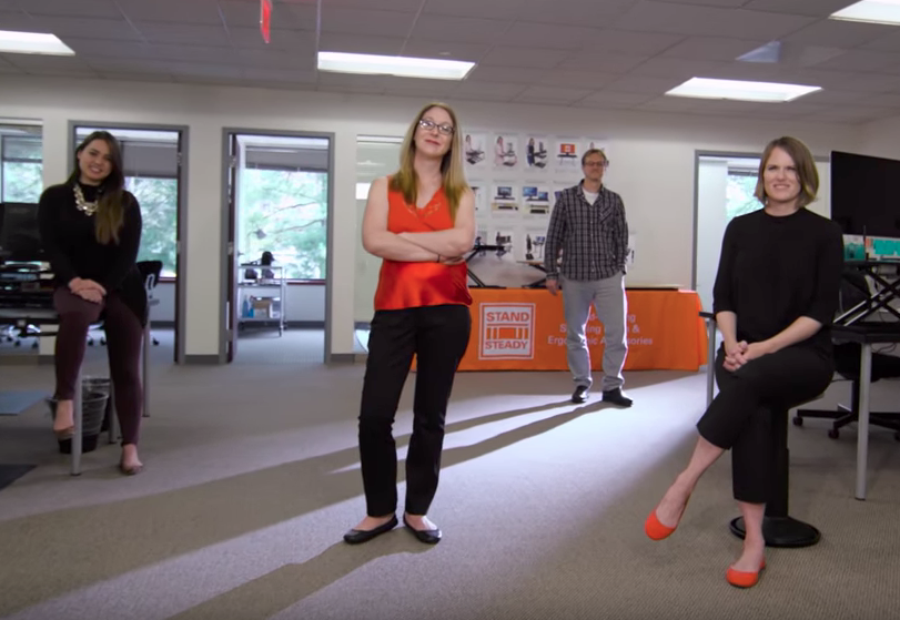 Stand Steady / SideTrak Team at Standing Desks