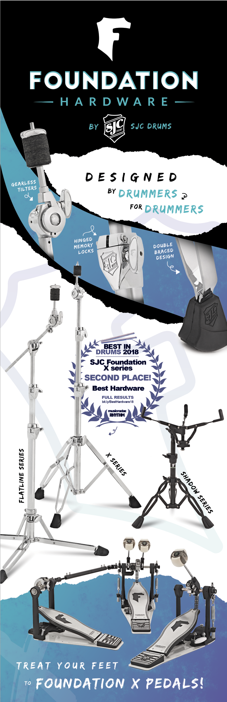 drum hardware, cymbal stands, snare stands
