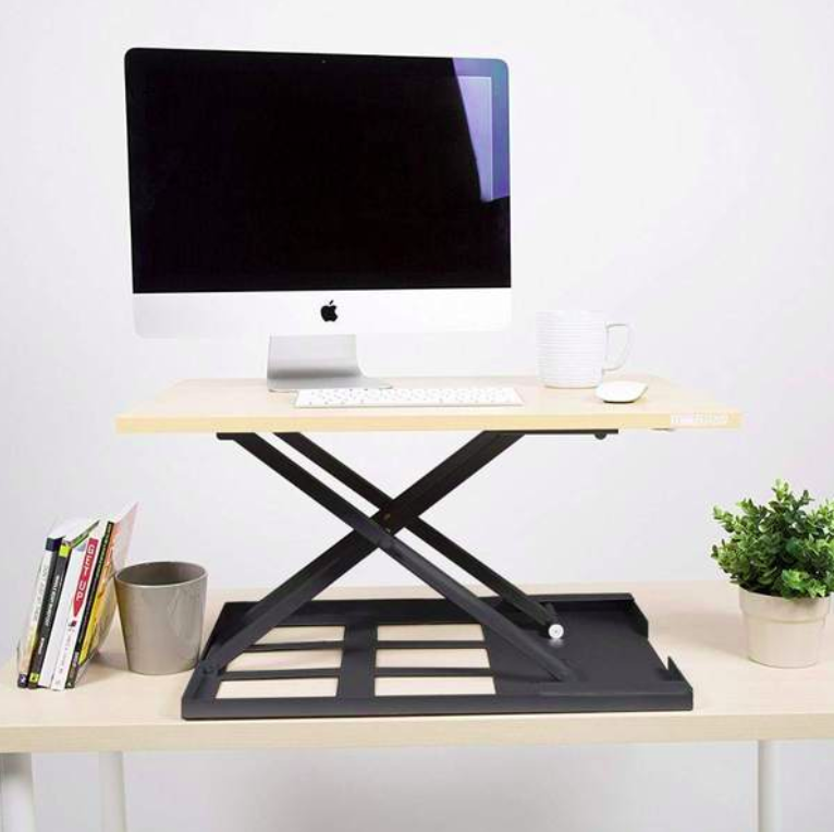 Maple Standing Desk Converter X-Elite Pro