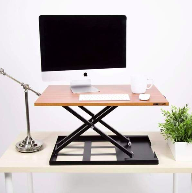 Cherry Standing Desk Converter