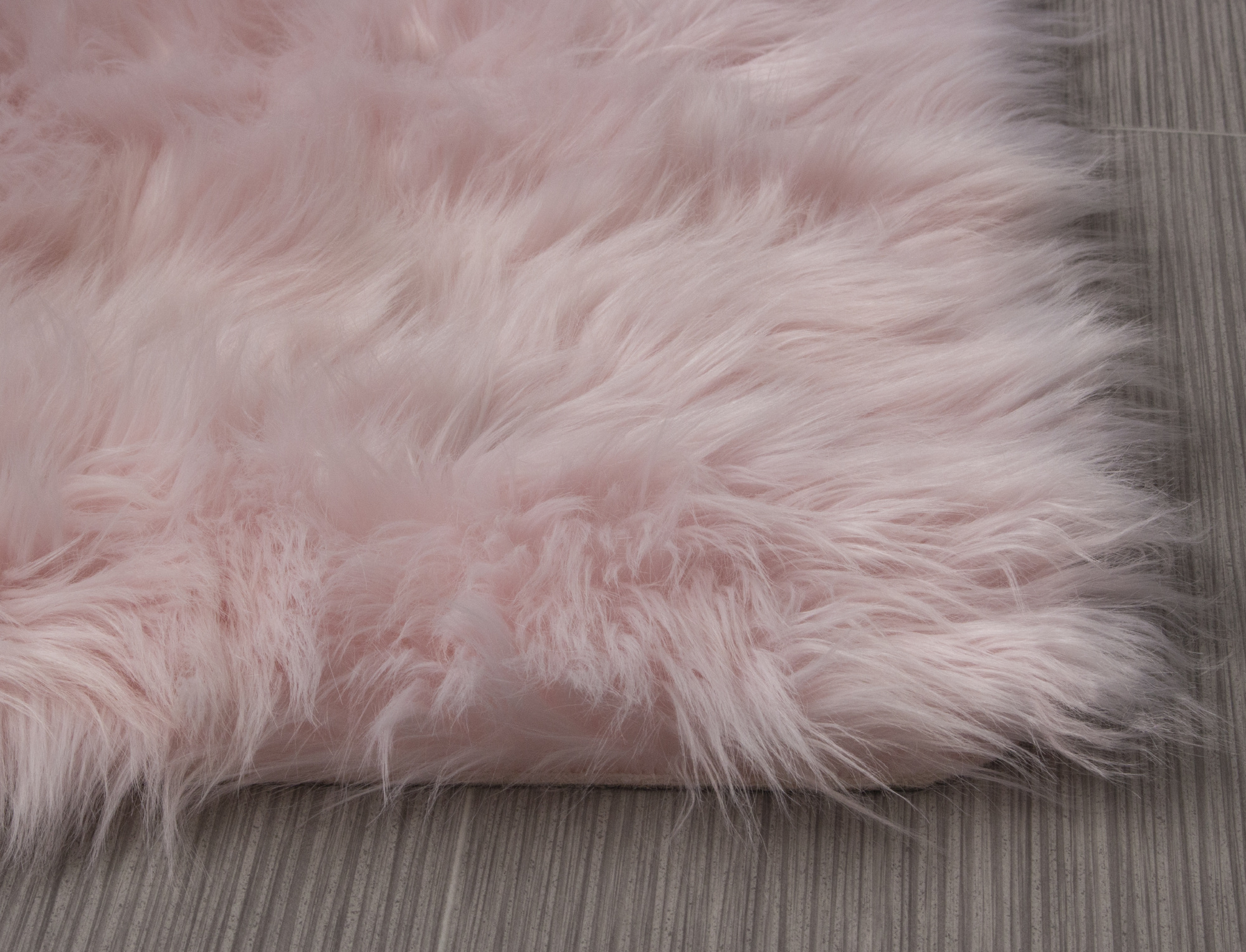 Faux Fur Shag Rug In Light Pink Ser01 By Super Area Rugs