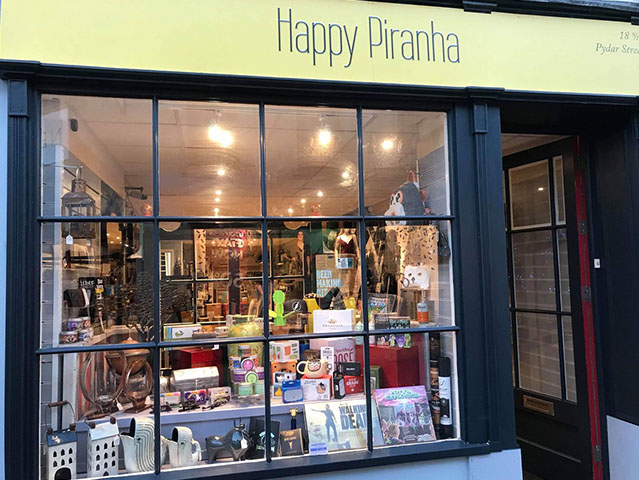 The Happy Piranha store in Truro, Cornwall