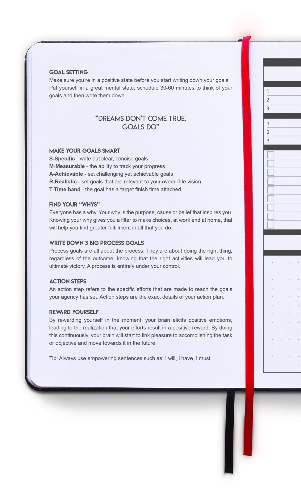 sidekick planner undated daily goal planner inside goal setting