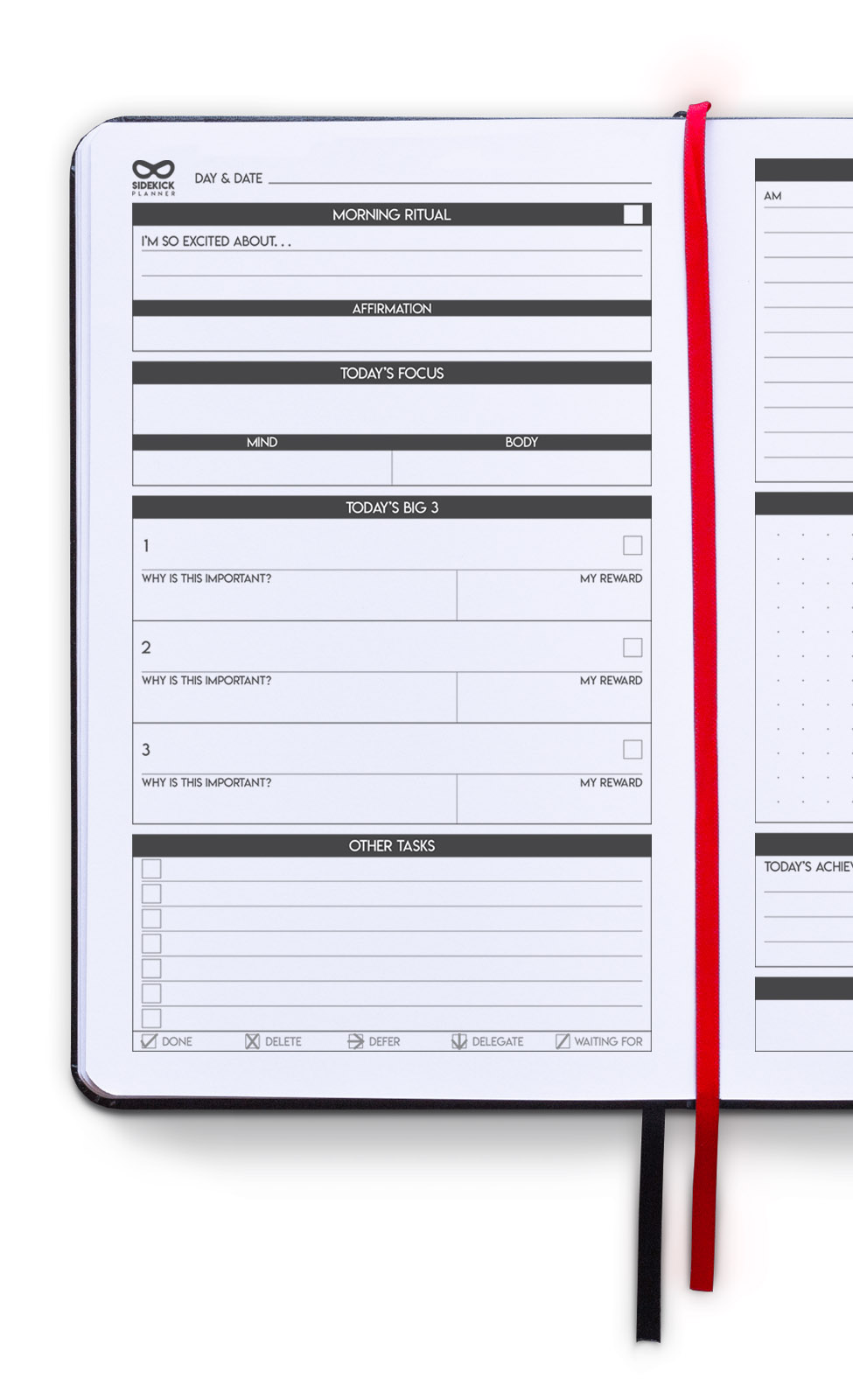 sidekick planner undated daily goal planner inside daily planning