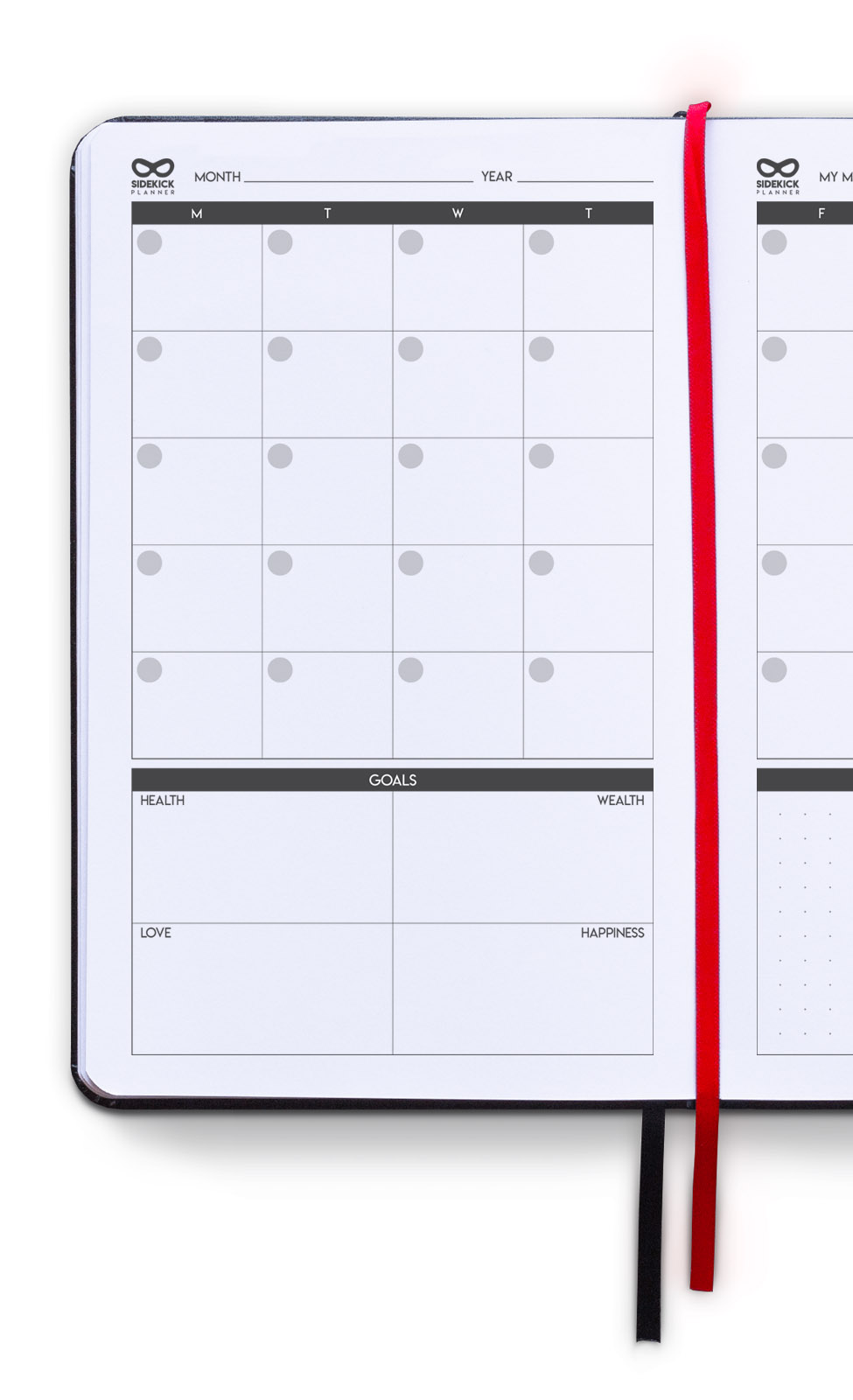 sidekick planner undated daily goal planner inside monthly planning