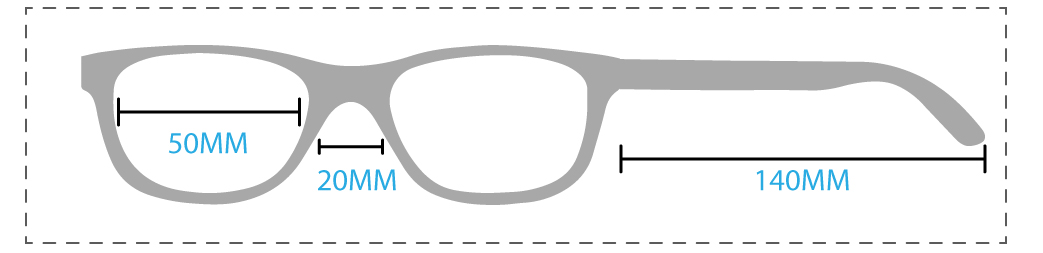 Prescription Glasses Size Chart