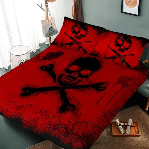 skull and crossbone bedding