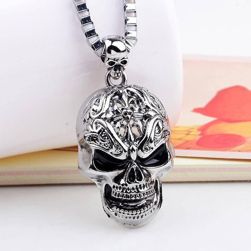 skull pendant for men