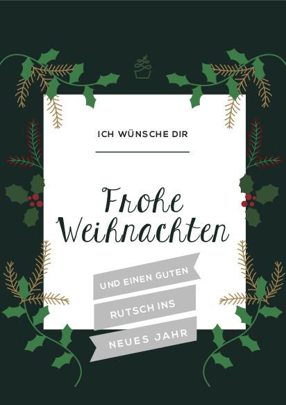 Weihnachtskarten Zum Selber Drucken.Weihnachtskarte Kostenloser Download Sweet Kitcen