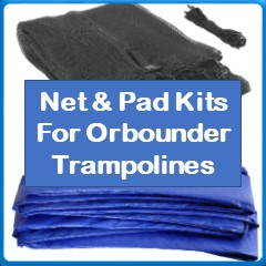 Net And Pad Kits For Orbounder Trampolines