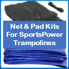 Net And Pad Kits For SportsPower Trampolines