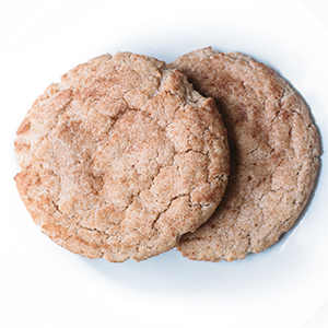 photo of traditional snickerdoodle cookie