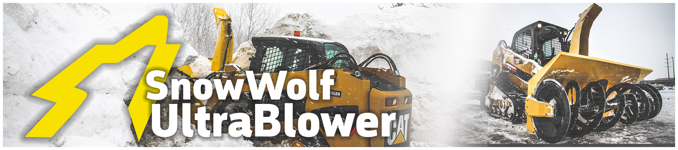 SnowWolf UltraPlows for Skid Steers