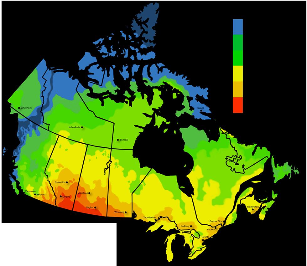 Canada Solar Map