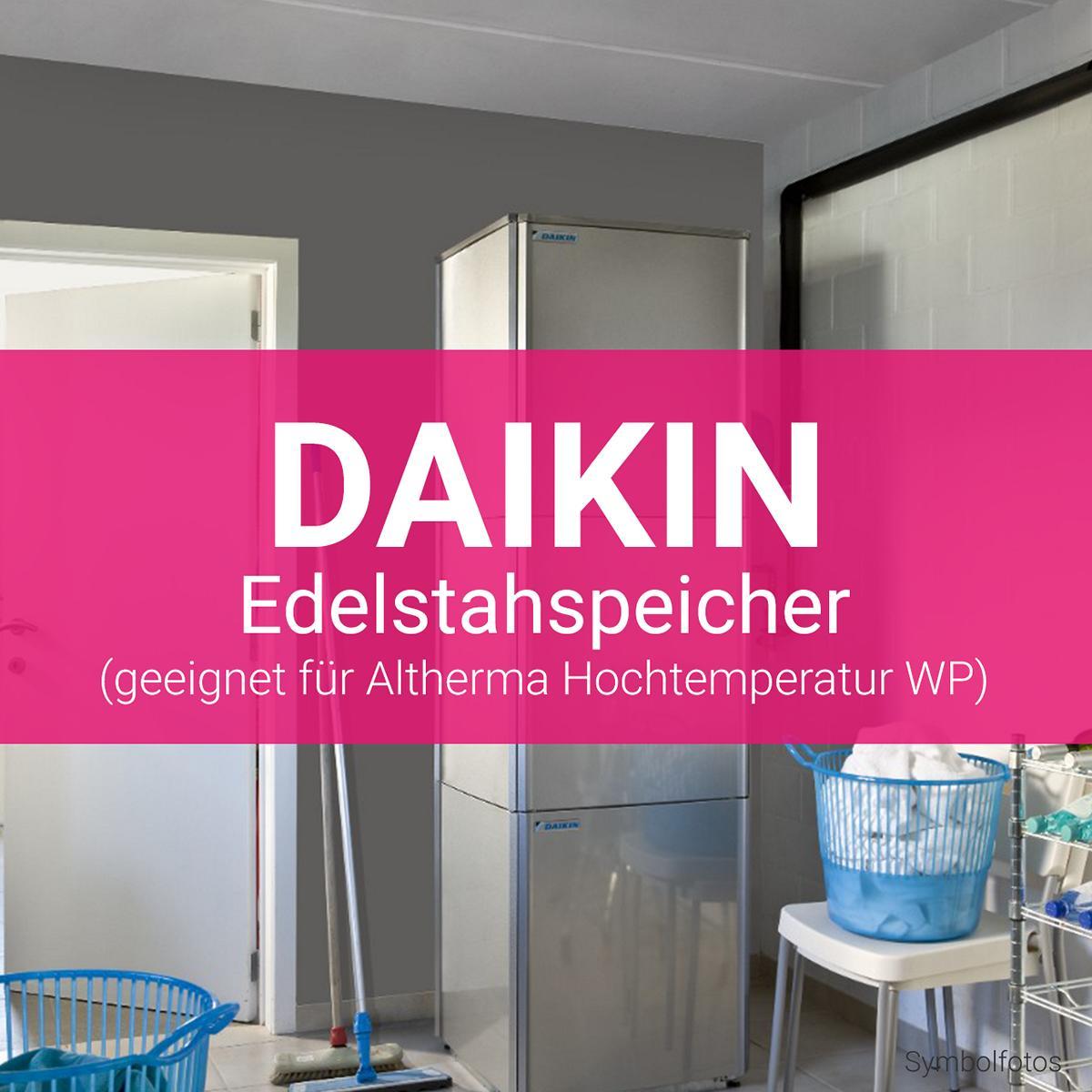 Daikin Edelstahlspeicher Altherma Hochtemperatur Wärmepumpe