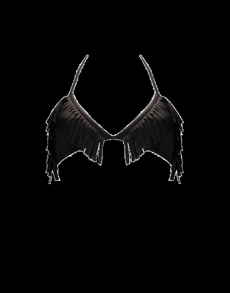 Sumarie Falling Water bikini top in black