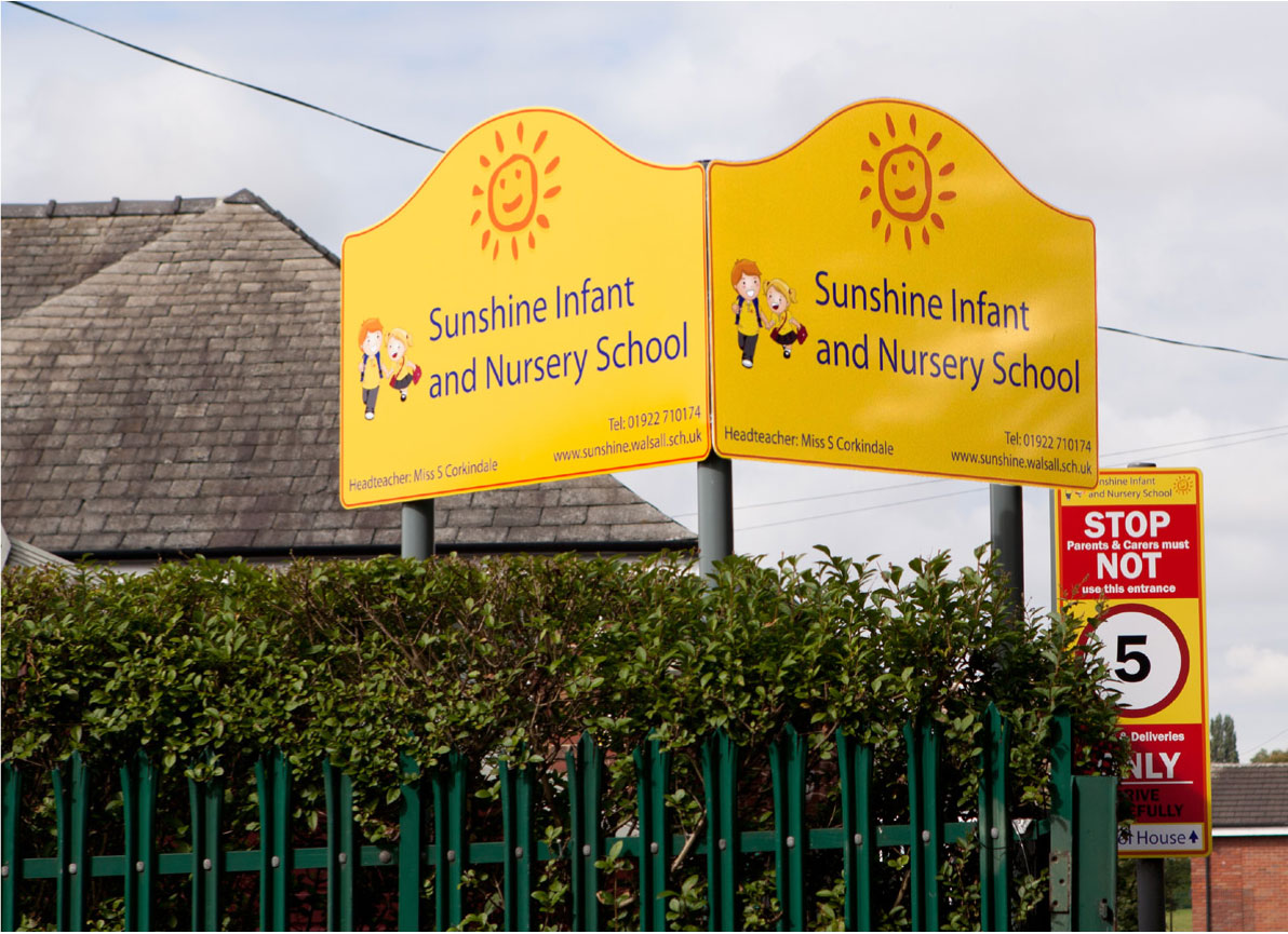 Post Mounted School Signage | Viro Display UK