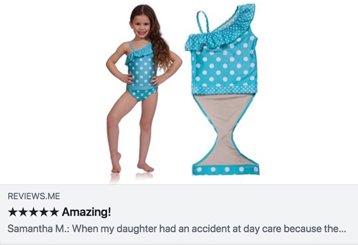 Review on FASTEN one piece swimsuit for kids
