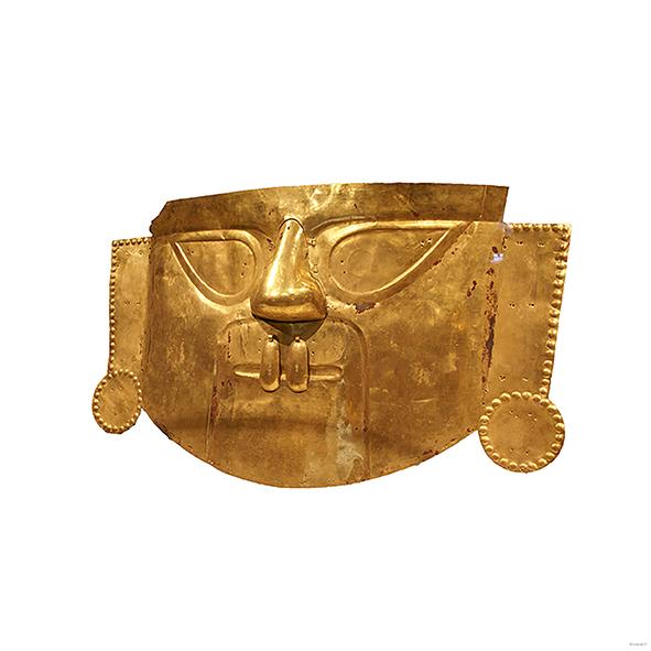 Inka-Maske - Gold