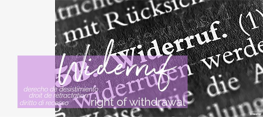 Widerruf | SYNO Schmuck-Design