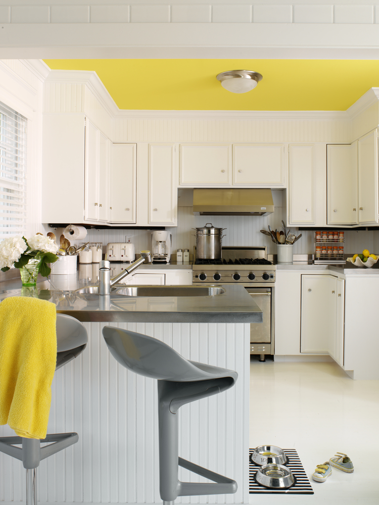 Tara Seawright Interiors Yellow Kitchen Ceiling