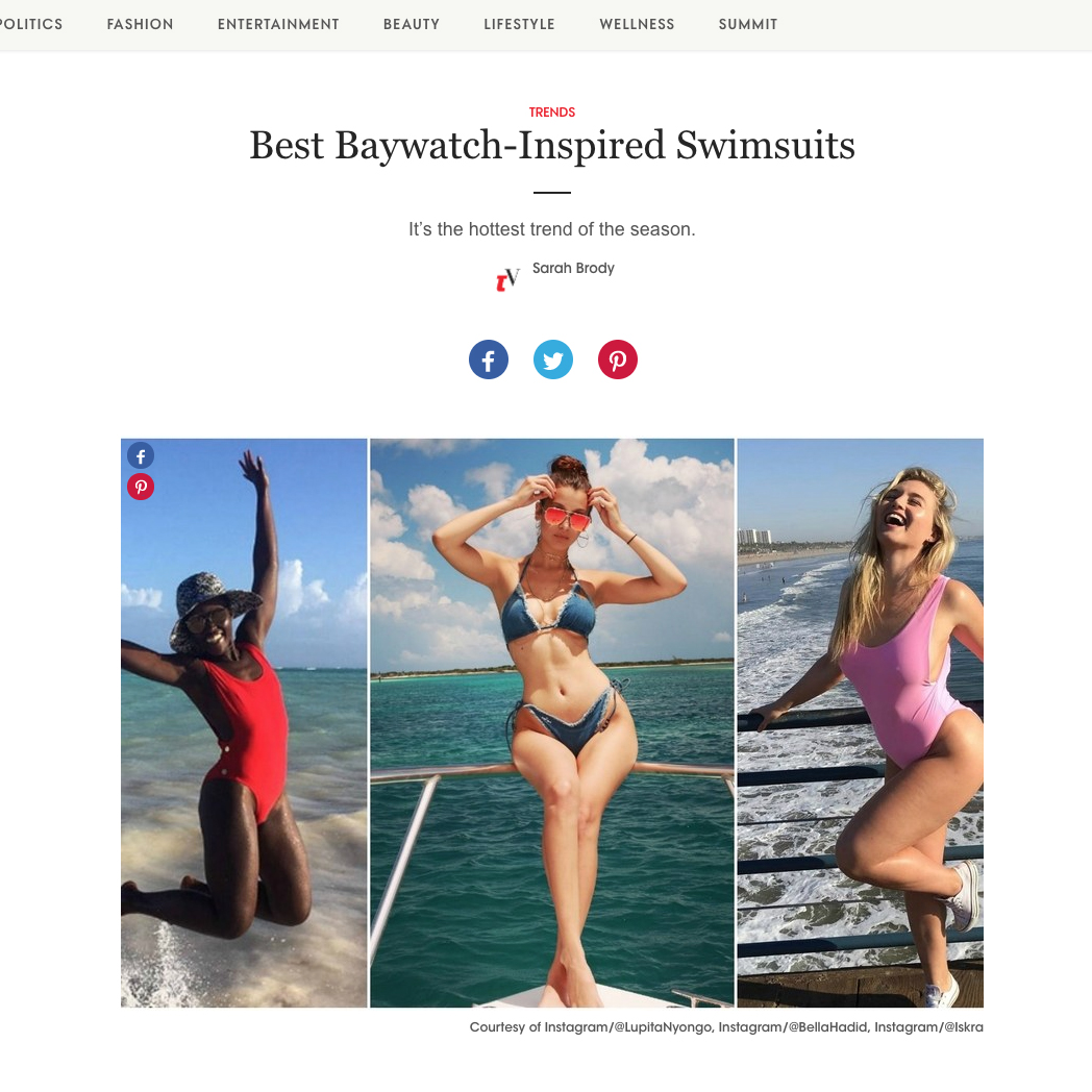 Teen Vogue features Oseree Swimwear
