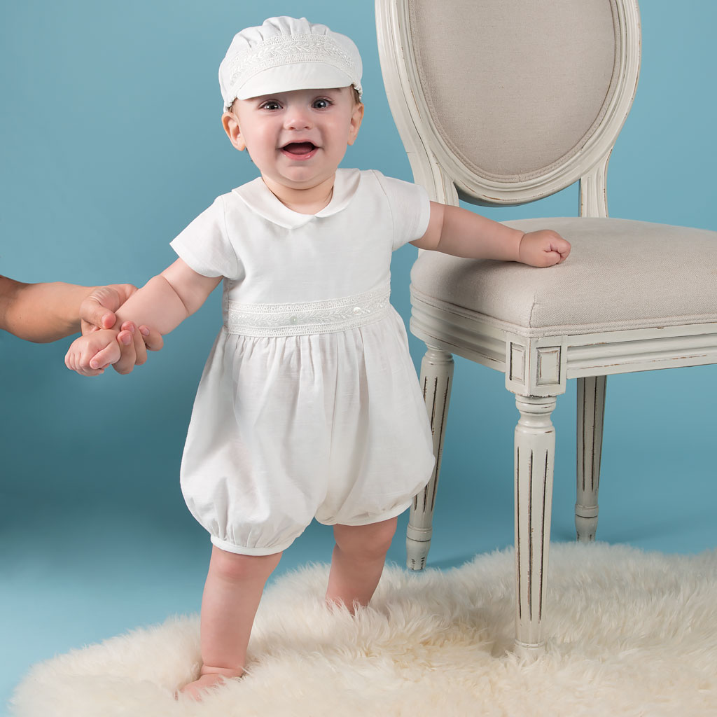 Oliver Boys Christening Jumpsuit