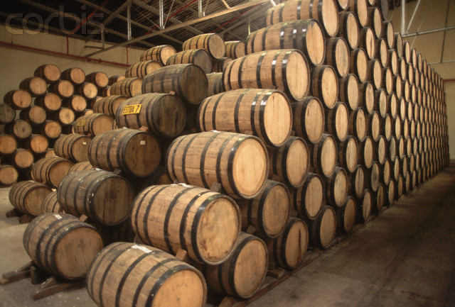Tequila barrels used for aging