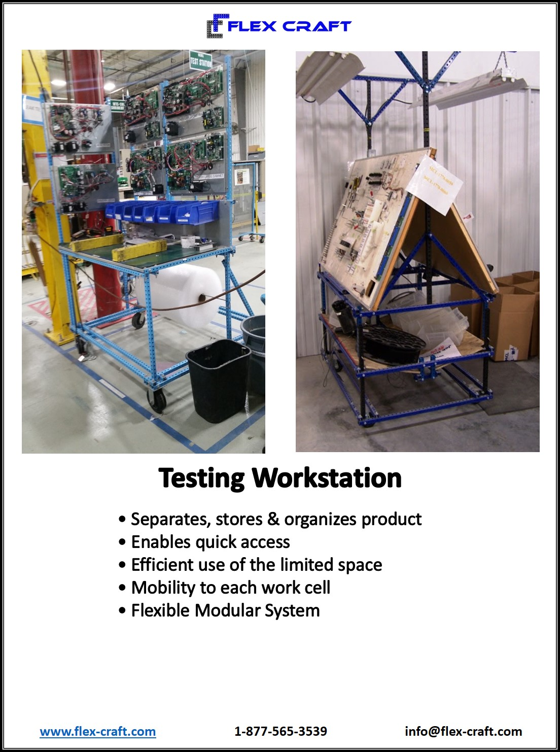 Parts Testing Harness Workstation Table