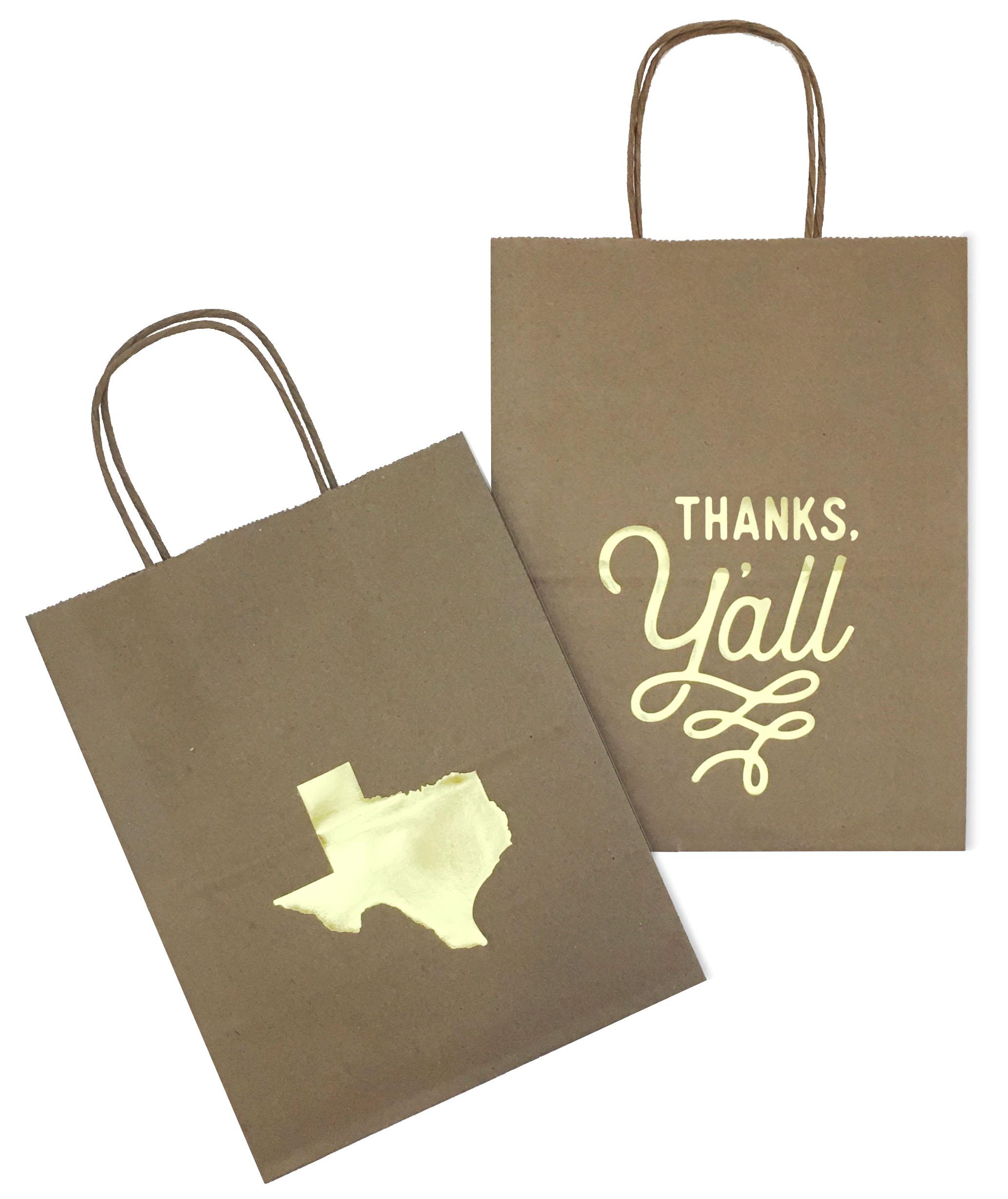 Texas Wedding Gift Bag Favor Bag Swag Bag