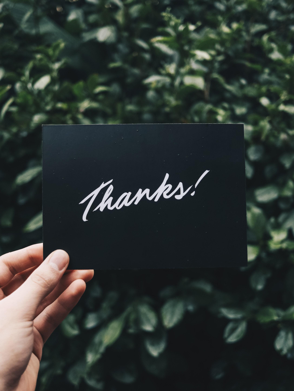 Thank you image - Loyalty program
