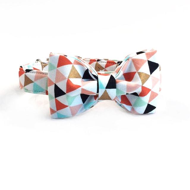 multicoloredbannerdogbowtiecollar